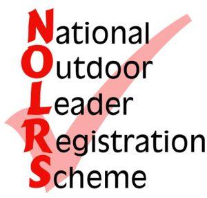 The National Outdoor Leader Registration Scheme (NOLRS) logo